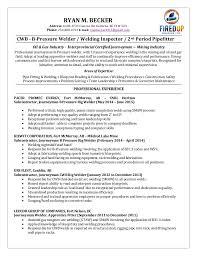 Sample Resume For Welder by Ryan Becker Welding Resume