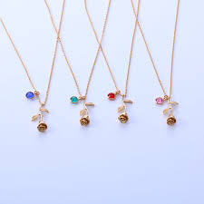 birthstone necklace for 3um necklace for women flower pendant necklace personalized
