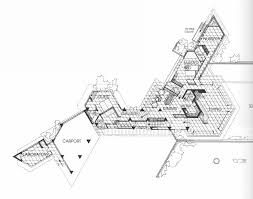 frank lloyd wright the wall house plans u0026 sections