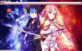 theme google chrome sword art online sword art online asuna and kirito 1680x1050 chrome web store