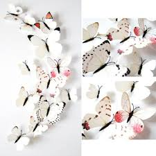 12pcs designs impression 3d creative butterfly printing decal