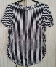 s fitted blouses h m rayon striped tops blouses for ebay