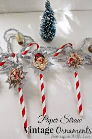 homemade paper straw vintage ornaments handmade ornament no 3