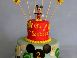 mickey mouse clubhouse 2nd birthday cake lemon chiffon cake with
