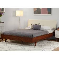 Mid Century Beds Simple Living Cassie Mid Century Queen Bed Free Shipping Today