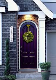 eggplant front door the perfect pop of color exterior paint