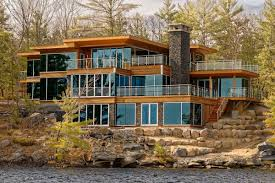 12 million for a modern muskoka lakes mansion on a private island