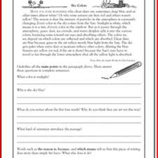printable reading passages for 5th grade kristal project edu
