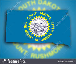 Map Of Sd Image Of Map Flag Of South Dakota