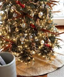 brown christmas tree skirt satin sequin christmas tree skirt tree classics