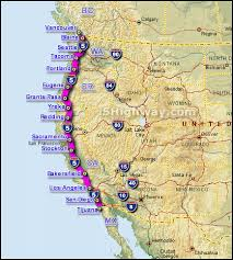 map of usa west coast about the i 5