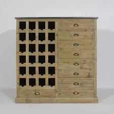 meuble cuisine bois recyclé buffet haut avec range bouteilles en bois recyclé naturel authentiq