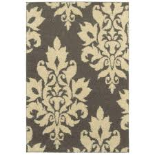 home decorators collection meadow damask gray 7 ft 10 in x 10 ft