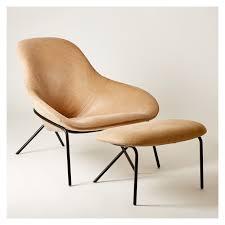 velvet chair and ottoman cross leg lounge chair ottoman old velvet leather the conran shop