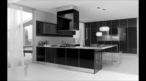kitchen graceful modern kitchen interior black and white designs