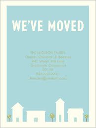 our town moving announcement change of address