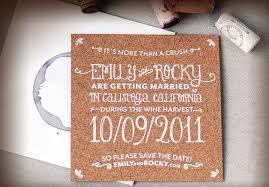 wedding invitations cork unique wine stain cork save the dates invitation crush