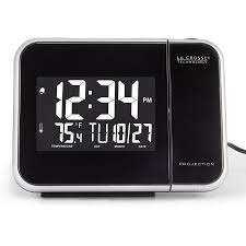Clock That Shines Time On Ceiling by La Crosse Entry Level Projection Alarm Walmart Com