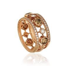 kay jewelers chocolate diamonds le vian 18k rose gold wide diamond band windsor fine jewelers