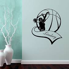basketball bedroom decorations amazon com