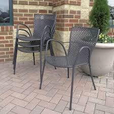 Savannah Outdoor Furniture by Outdoor Dining Chairs Savannah Metal Stacking Chair Country Casual