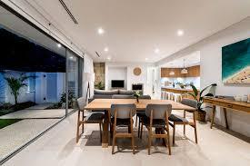 modern beach house dining room dining room table