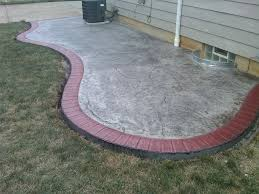 seamless slate stamped patio w tile red brick border light grey
