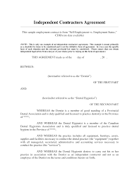 10 Contractor Non Compete Agreement 100 Independent Contractor Agreement Form Marketing And