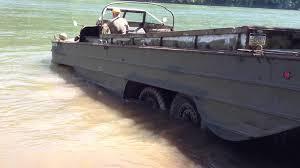 amphibious vehicle duck dukw swimming part1 youtube