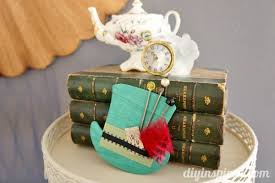 Mad Hatter Decorations Mad Hatter Tea Party Hat Decoration Diy Inspired