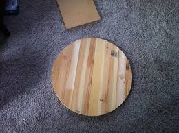 Diy Round Wood Table Top by Lady Goats Make A 24