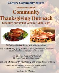 free thanksgiving dinner at calvary community church the