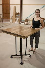 Industrial Standing Desk by Industrial Square Tables Emmorworks