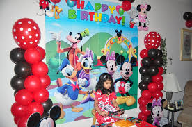 mickey mouse birthday party samayera s mickey mouse bday party birthday decorating ideas