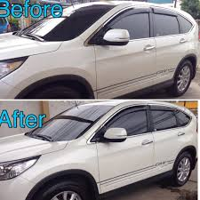 honda crv white glass coating honda crv 2015 white samurai carcoating made in japan