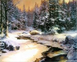 199 best snow kinkade images on