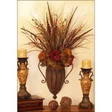 Vase Wall Sconce Flower Wall Silk Flowers And Wall Sconces On Pinterest With Wall