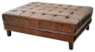 round leather coffee table brown leather ottoman coffee table wonderful modern leather ottoman