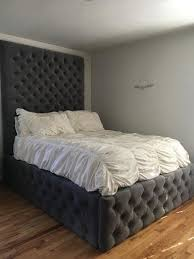 High Headboard Bed Extraordinary Bed Frames With High Tufted Headboard Spectacular