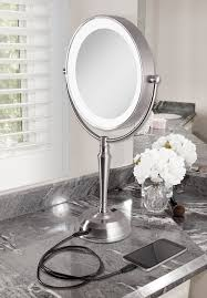 zadro lighted makeup mirror led lighted vanity mirror with rechargeable battery usb port