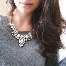 wear statement necklace images How to wear white statement necklaces style guide jpg