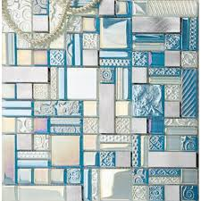 Deluxe Glass Metal Mosaic Sheets Brushed Aluminum Backsplash Glass - Aluminum backsplash