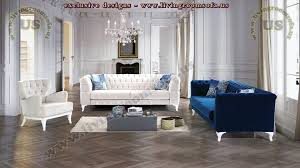 Chesterfield Sofa Set Chesterfield Sofa Set Blue And White Comfortable Design