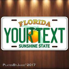 Florida Vanity Plate Cost Collectible Florida License Plates Ebay