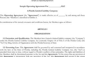 sample operating agreement mad real estate investor business plan