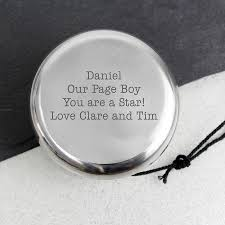 wedding keepsake gifts a wedding keepsake gift for your page boy personalised