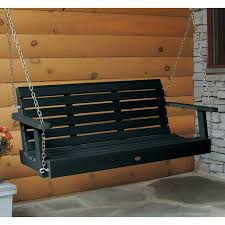 furniture beautiful porch swing with optional cushion crafted of