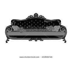 vintage victorian style sofa vintage sofa vector rich carved ornaments stock vector 452666746