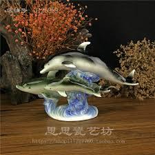 dolphin home decor creative ceramic dolphin home decor craft room decoration handicraft
