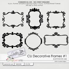 Pickleberrypop MERCIAL USE CU CU Decorative Frames C1